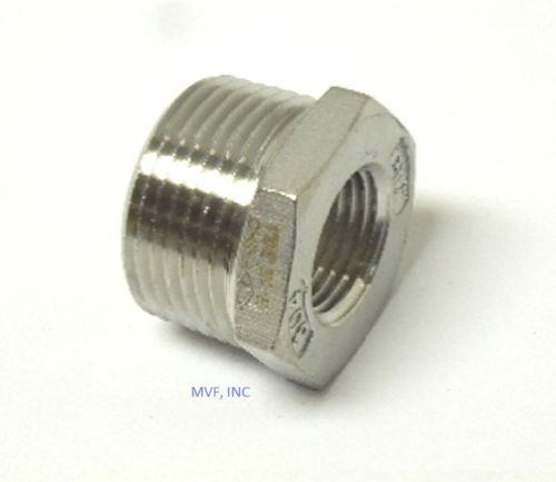 "1/4"" x 1/8"" 150# Cast Threaded Hex Bushing 304 Stainless Steel"