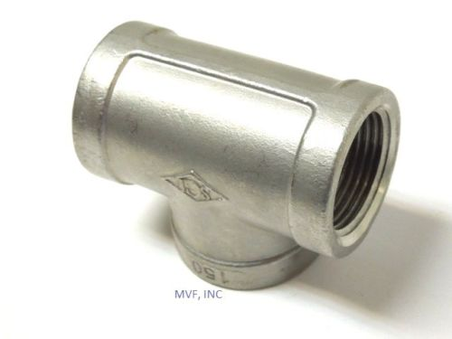 "1/2"" 150# Cast Threaded TEE 304 Stainless Steel"
