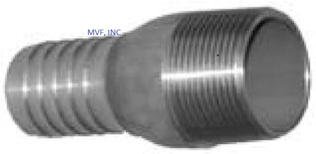 "Hose Barb Combination KC Nipple 1/2"" Male NPT for 1/2"" ID Straight End Hose 304 Stainless Steel"