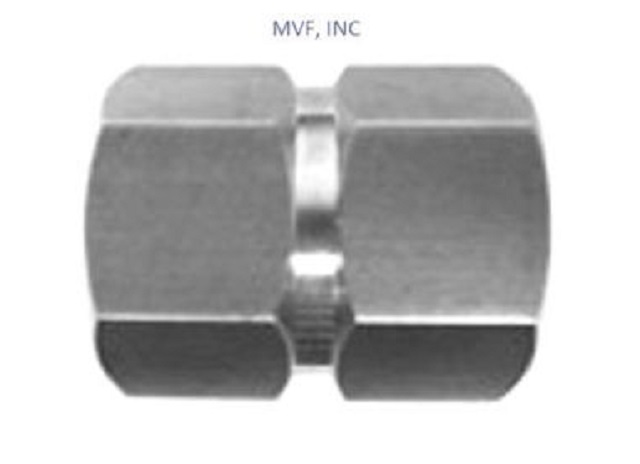 "1/4"" FPT X 1/4"" FPT Female Pipe Union Adapter 316SS Hex Coupling NPT Threaded 5000-04-04-SS"