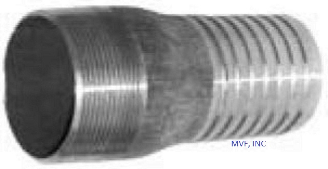 "Hose Barb Combination KC Nipple 1-1/4"" Male NPT for 1-1/4"" ID Straight End Hose Black Steel"