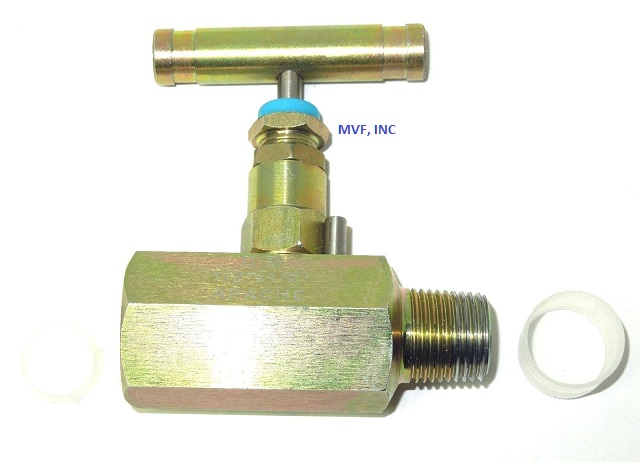 "Needle Valve 1/2"" MNPT x 1/2"" FNPT 6000 PSI Steel Body, NACE, T-Bar Handle OVER STOCK"