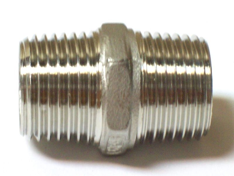 "1"" 150 Hex Pipe Nipple NPT Threaded 316 Stainless Steel"