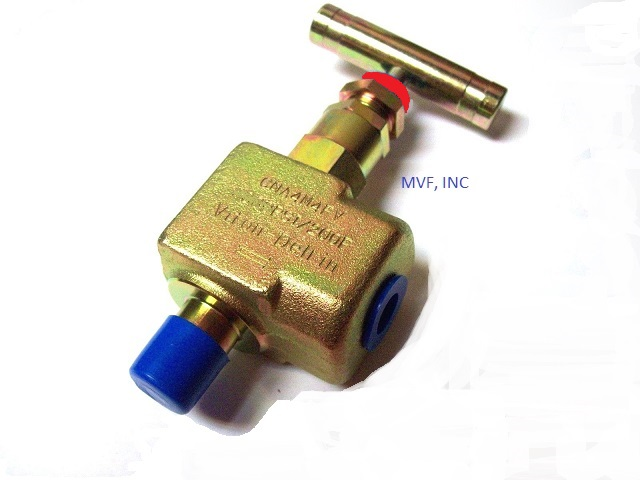 "90° Angle Needle Valve 1/2"" Male NPT x 1/2"" Female NPT 10,000 PSI, Carbon Steel Body, Metal Seats, NACE, T-Bar Handle"