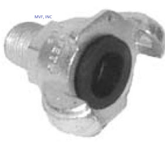 "1/2"" Male NPT Universal Crowfoot Coupling Zinc Plated Ductile Iron"
