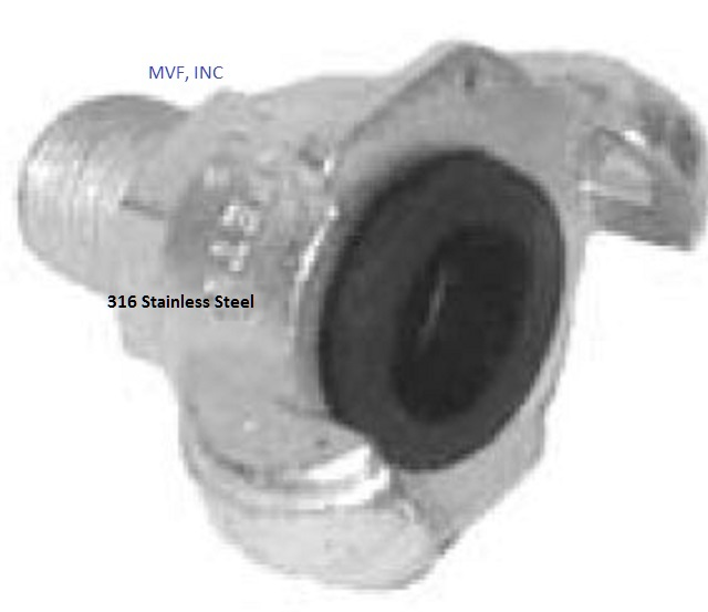 "1/2"" Male NPT Universal Crowfoot Coupling 316 Stainless Steel"