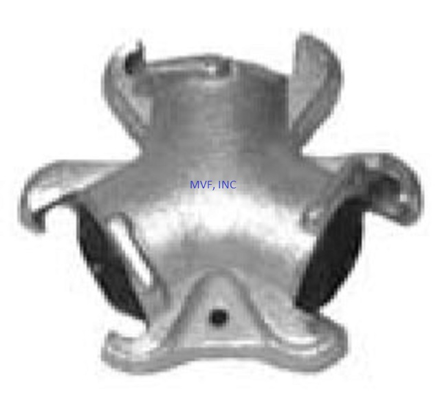 Triple Connector Universal Crowfoot Coupling Zinc Plated Ductile Iron