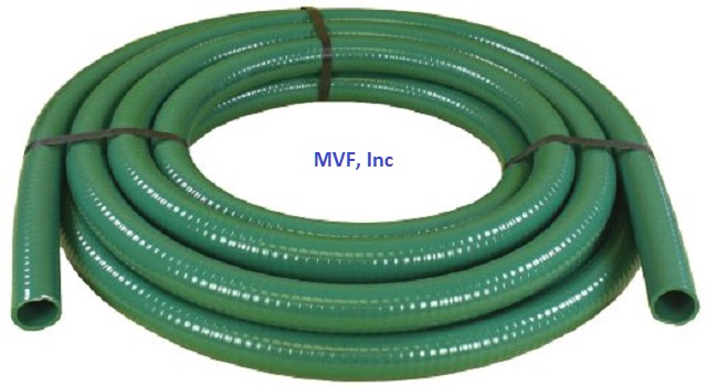 "Suction Hose 2"" I.D. 2.30 O.D. Green 85 PSI Rated (CUT TO LENGTH)"