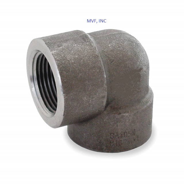 "3/4"" 3000 Threaded (NPT) 90° Elbow Forged Steel A105"