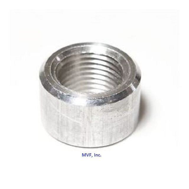 "1/2"" NPT Threaded Half Coupling Aluminum 6061-T Schedule 40"