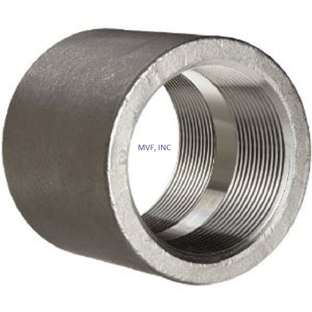 "1/2"" 3000# Threaded (NPT) Pipe Coupling Forged Steel A105"
