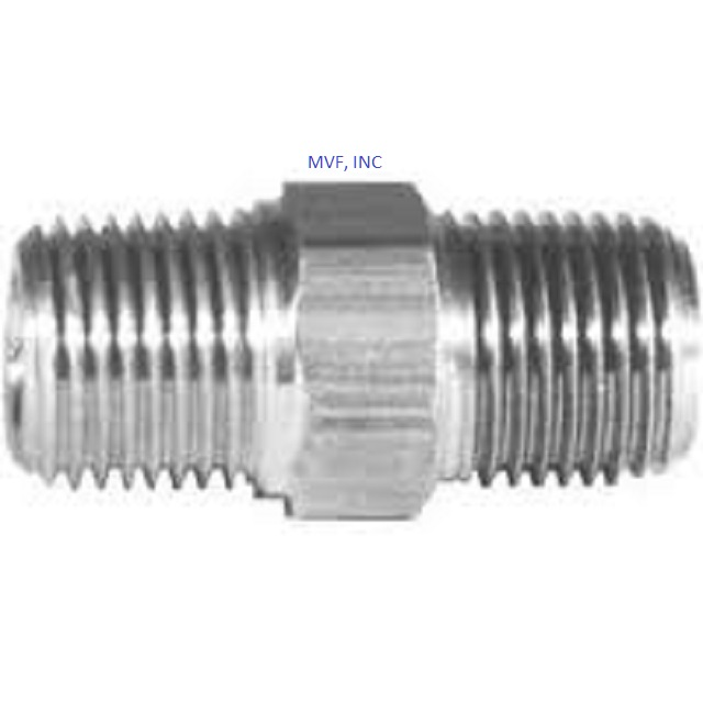 "1/8"" Hex Nipple NPT Threaded 316 Stainless Steel (5404-02-02)"