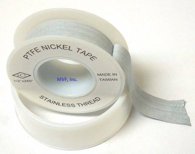 "Gray Nickel Stainless Steel PTFE Thread Tape 1/2"" x 260"" Thread Sealant Anti-Seize Teflon FREE S&H"