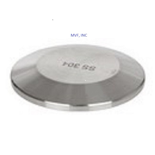 "1"" & 1-1/2"" Sanitary Solid End Cap 304 Stainless Steel Tri Clover"