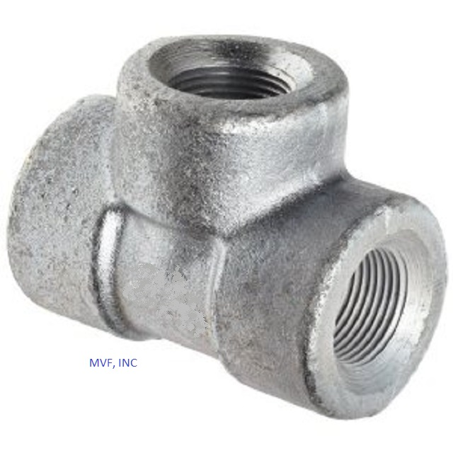 "1"" 3000# Threaded (NPT) Tee Forged Steel A105 NEW SURPLUS"