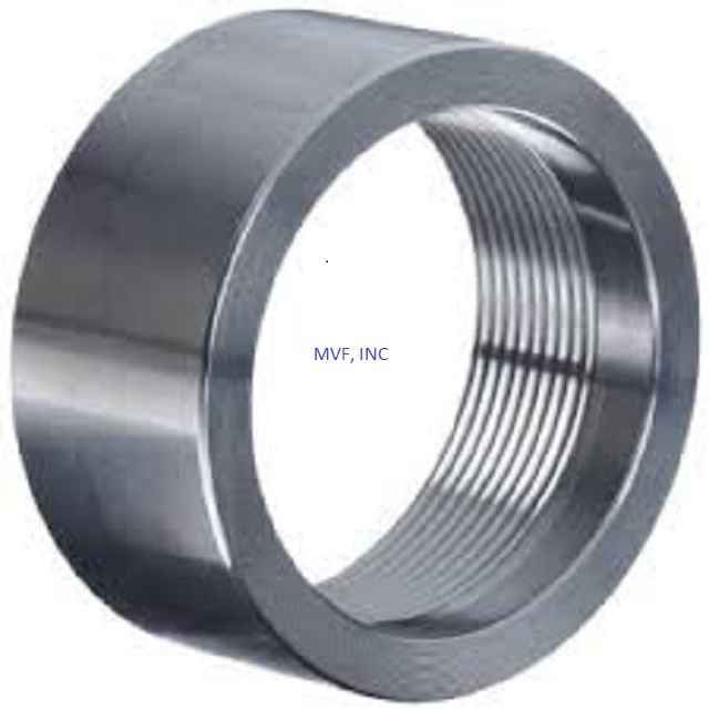 "1/2"" 3000# Threaded (NPT) Pipe Half Coupling Forged Steel A105"