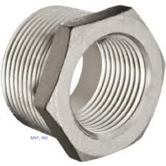 "2"" X 3/4"" Threaded (NPT) Hex Bushing Forged Steel A105"